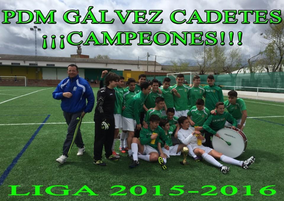 PDM  Gálvez Cadetes ¡¡Campeones!!